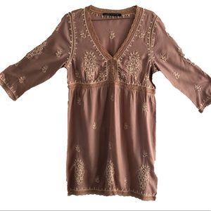 Zara Bohemian Embroidered Stitch Dress